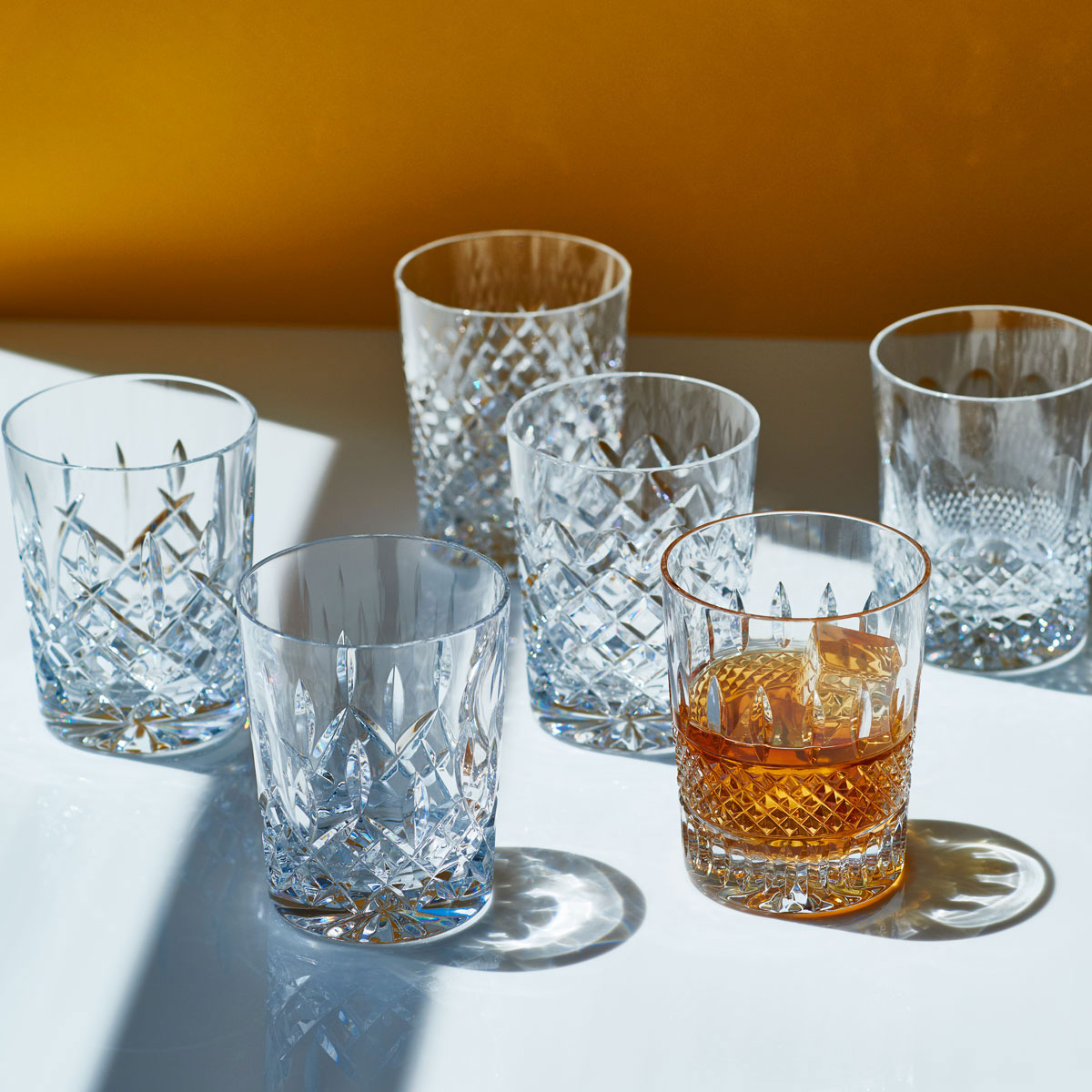 Waterford Crystal, Lismore Connoisseur Heritage DOF Tumblers, Set of Six