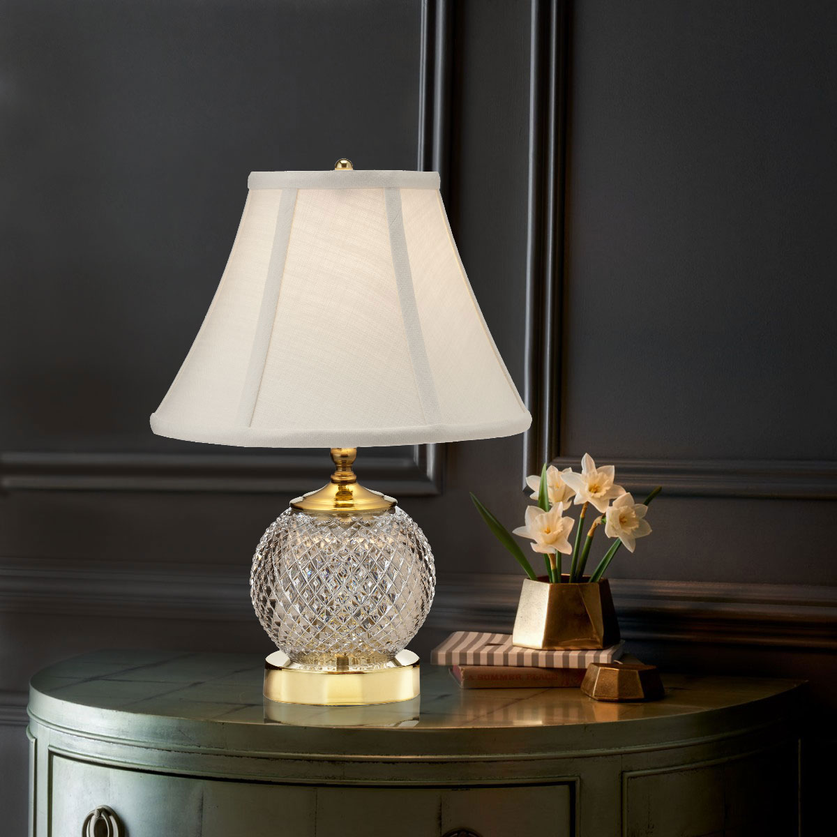 """Waterford Crystal, Alana Mini 15 1/2"""" Accent Crystal Lamp"""