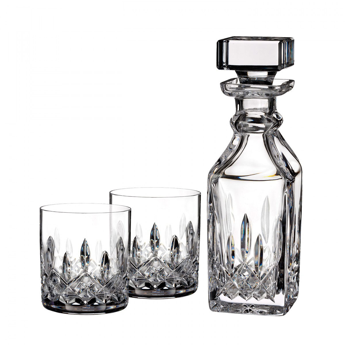 Waterford Crystal, Lismore Connoisseur Square Crystal Decanter and Tumbler Set