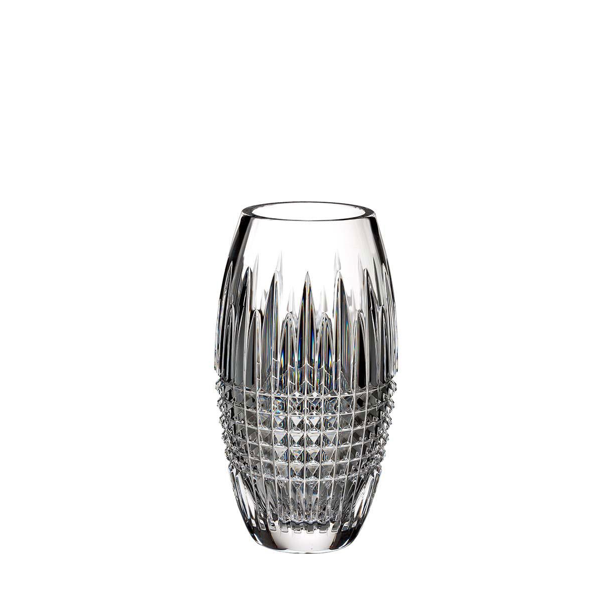 "Waterford Crystal, Lismore Diamond Encore 8"" Crystal Vase"