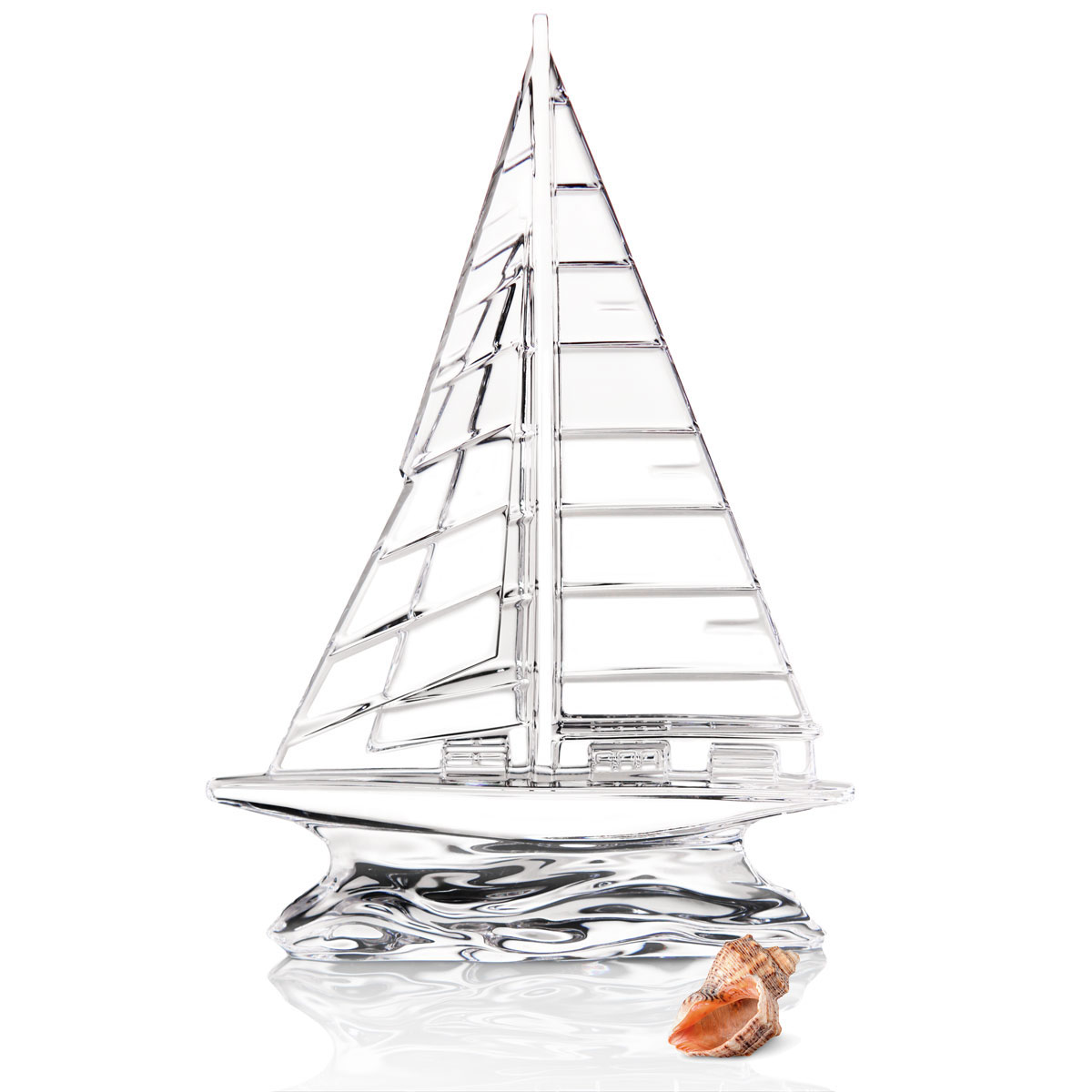 "Waterford Crystal 9"" Sailboat Sculpture, Clear"