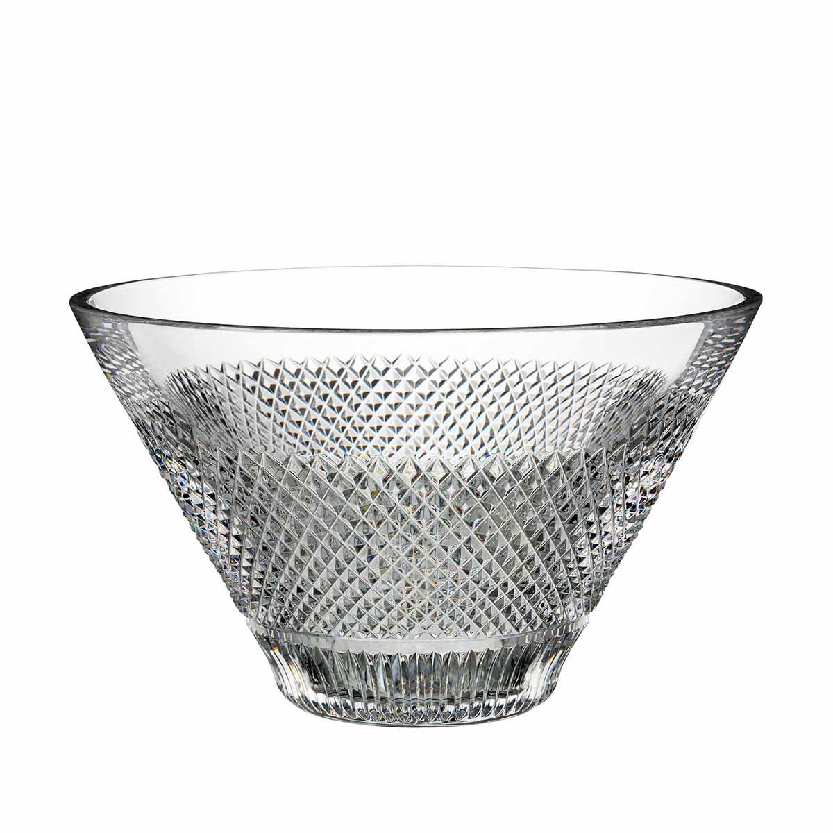 "Waterford Crystal, Diamond Line 10"" Crystal Bowl"