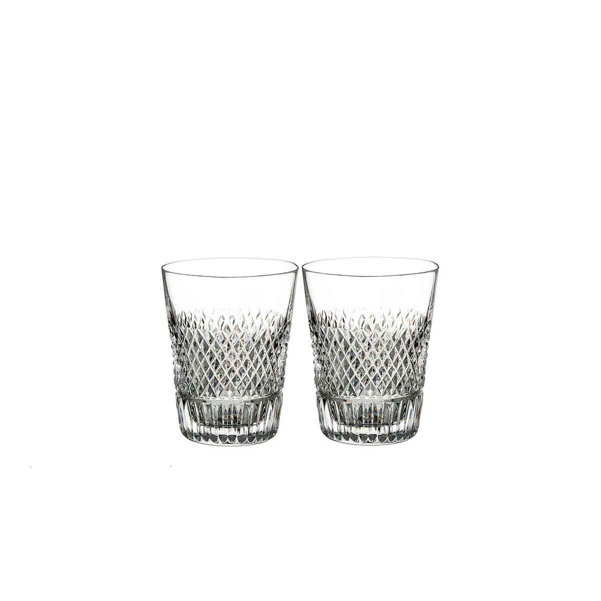 Waterford Crystal, Diamond Line Crystal Shot Glass, Pair