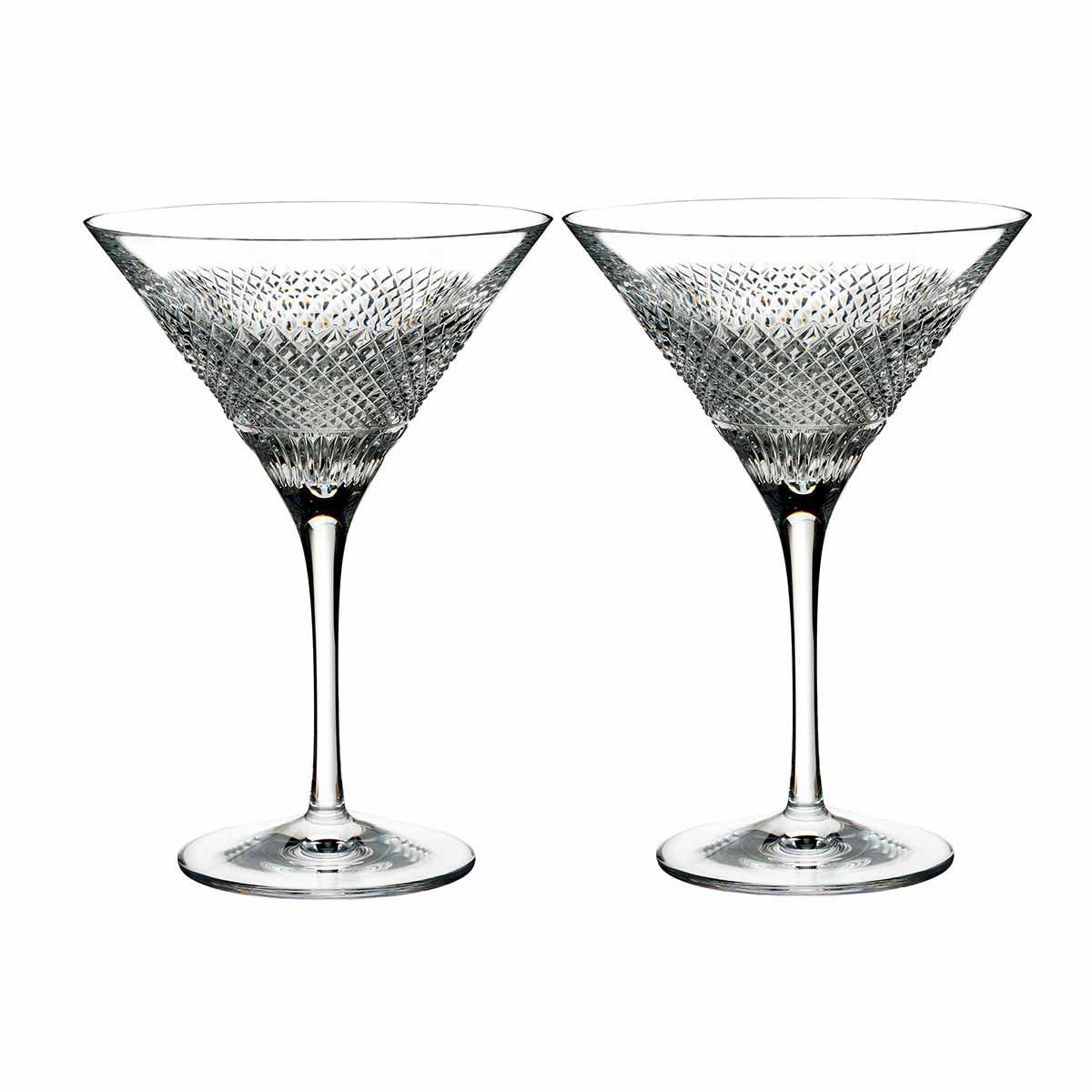 Waterford Crystal, Diamond Line Martini, Pair