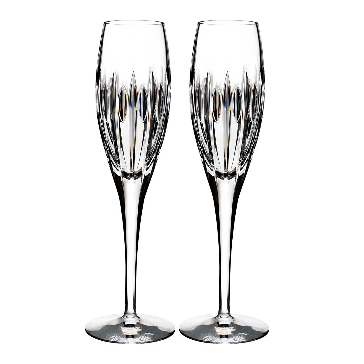 Waterford Crystal, Ardan Mara Crystal Flutes, Pair