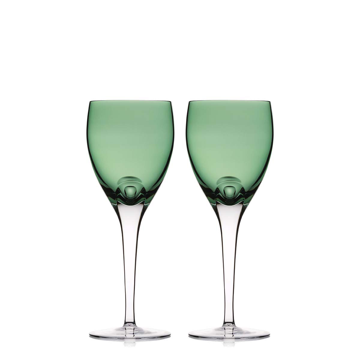 Waterford Crystal, W Fern Crystal Wine Goblets, Pair