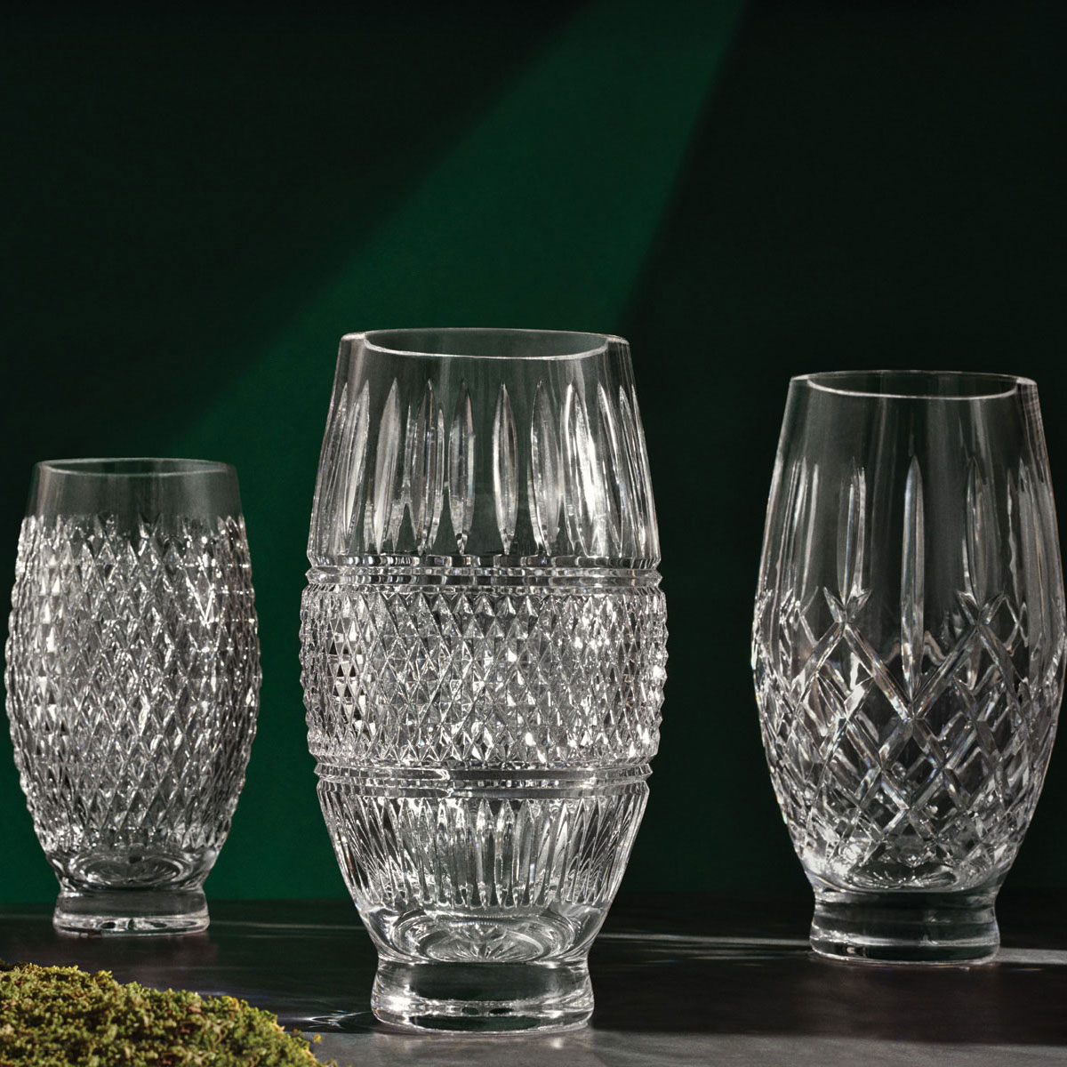 "Waterford Crystal, House of Waterford Trilogy Irish Lace 12"" Crystal Vase"