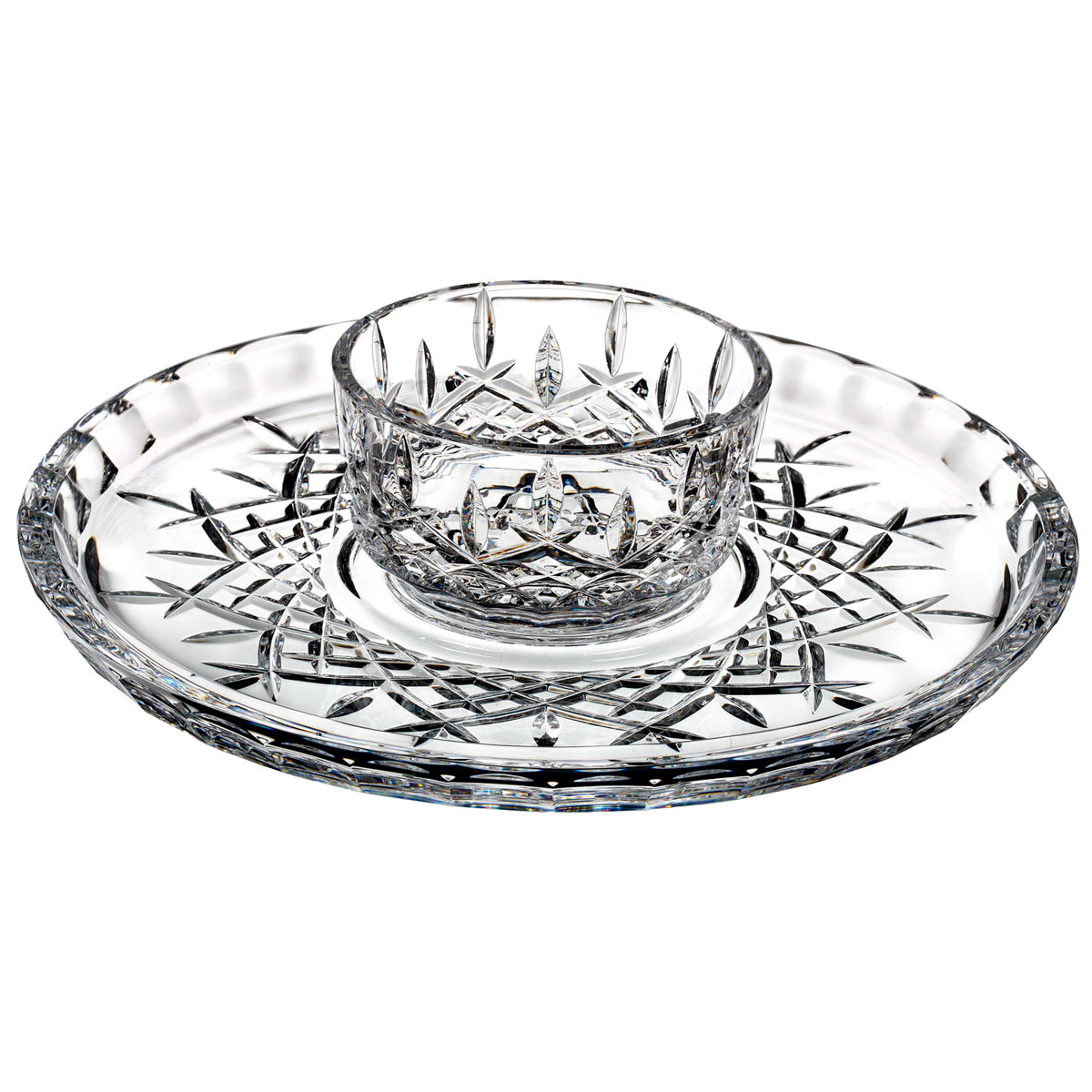 Marquis by Waterford Markham Chip and Dip Crystal Server