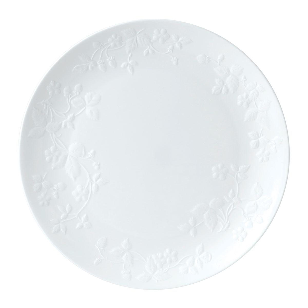 Wedgwood Wild Strawberry White Dinner Plate, Single