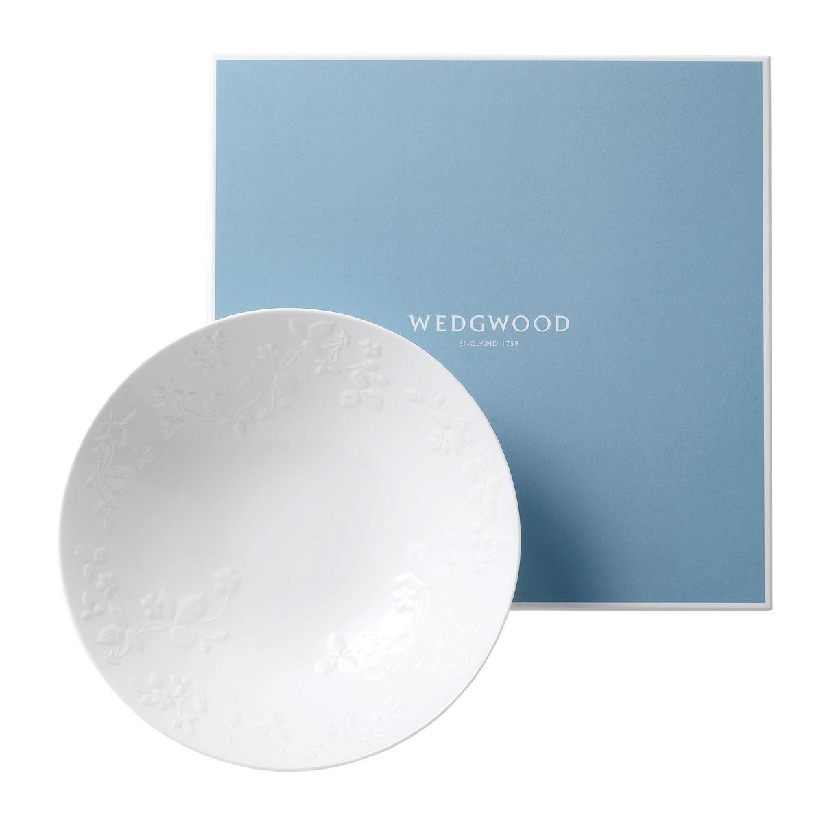 Wedgwood China Wild Strawberry White Centerpiece Bowl