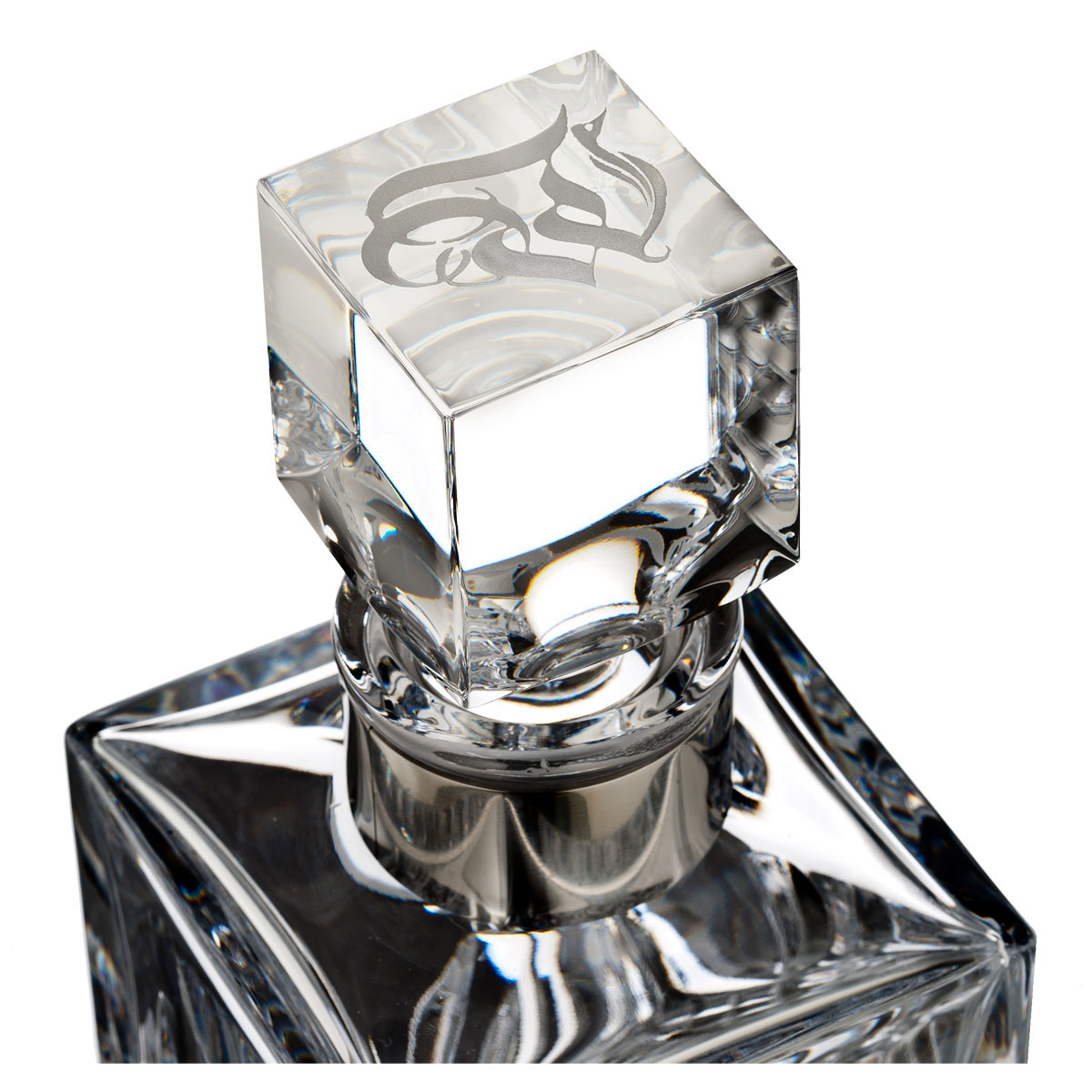"""Waterford Crystal, Retro """"W"""" Square Crystal Decanter"""