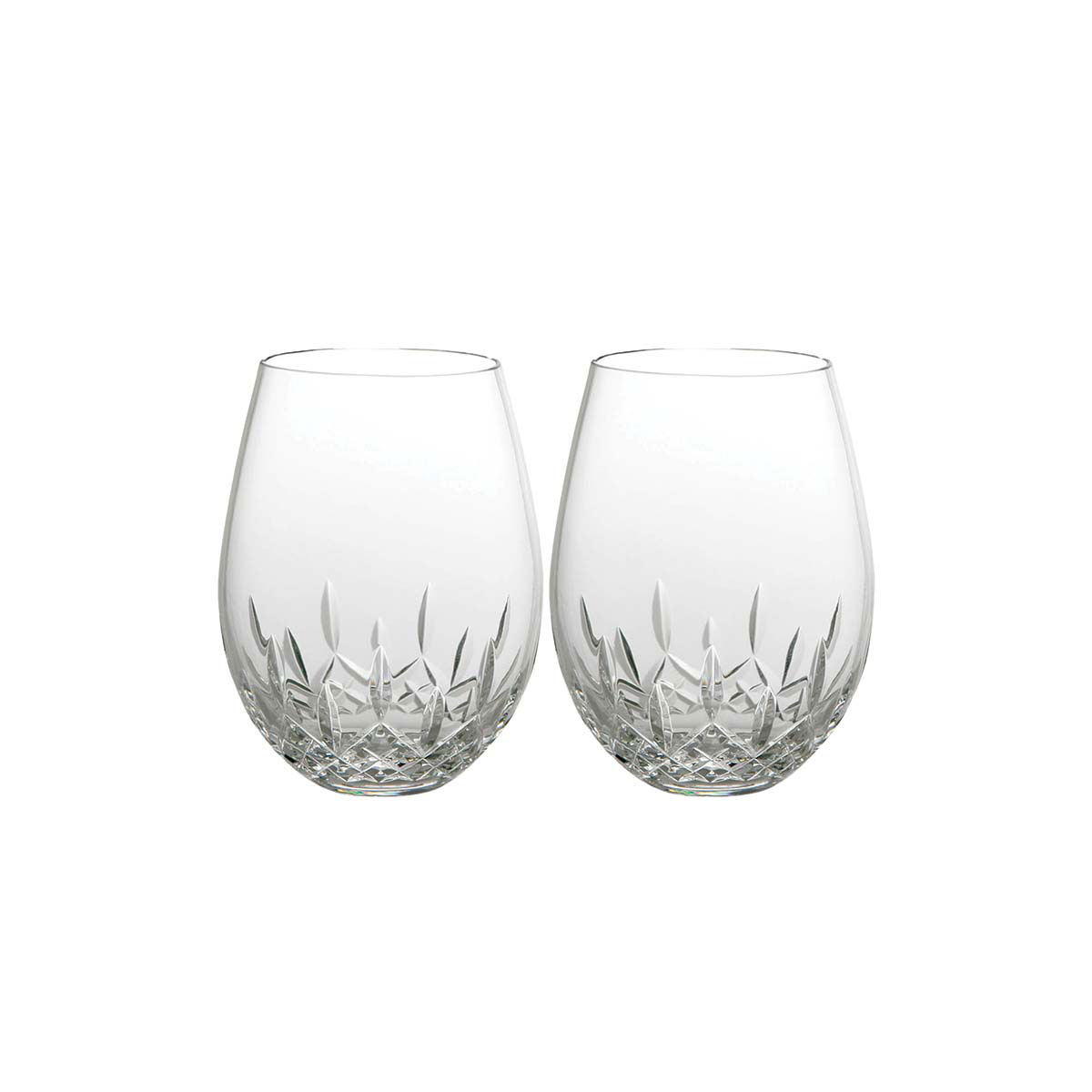 Waterford Crystal, Giftology Lismore Nouveau Stemless Deep Crystal Red Wine, Pair