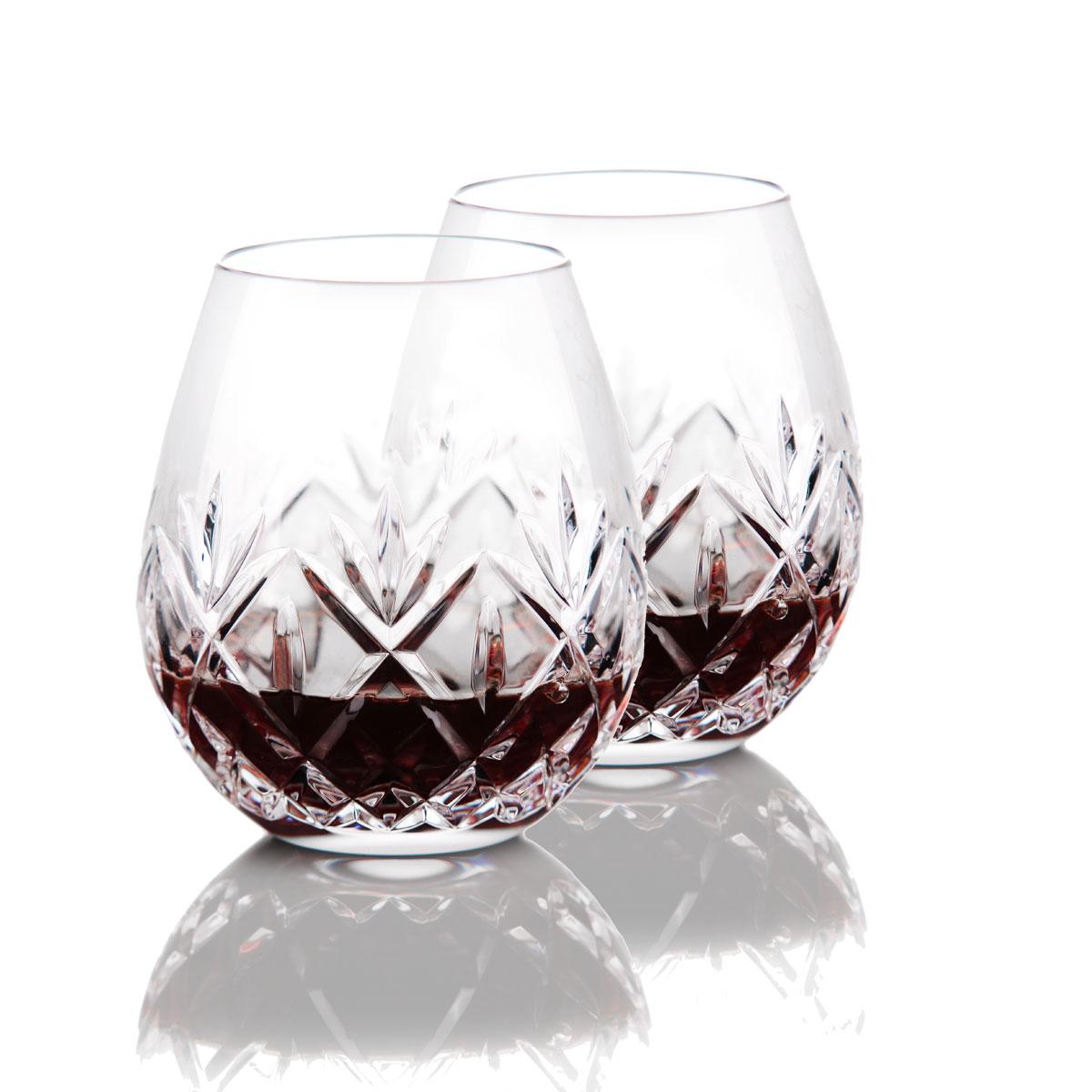 Waterford Crystal, Huntley Stemless Red Wine Glasses, Pair