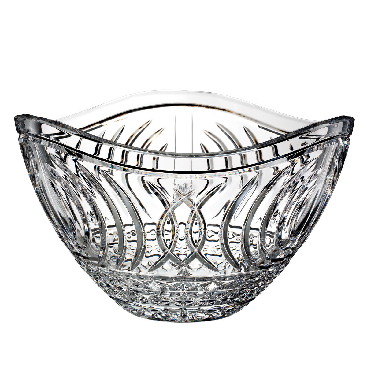 """Waterford Crystal, House of Waterford Waves of Tramore 12"""" Crystal Bowl"""