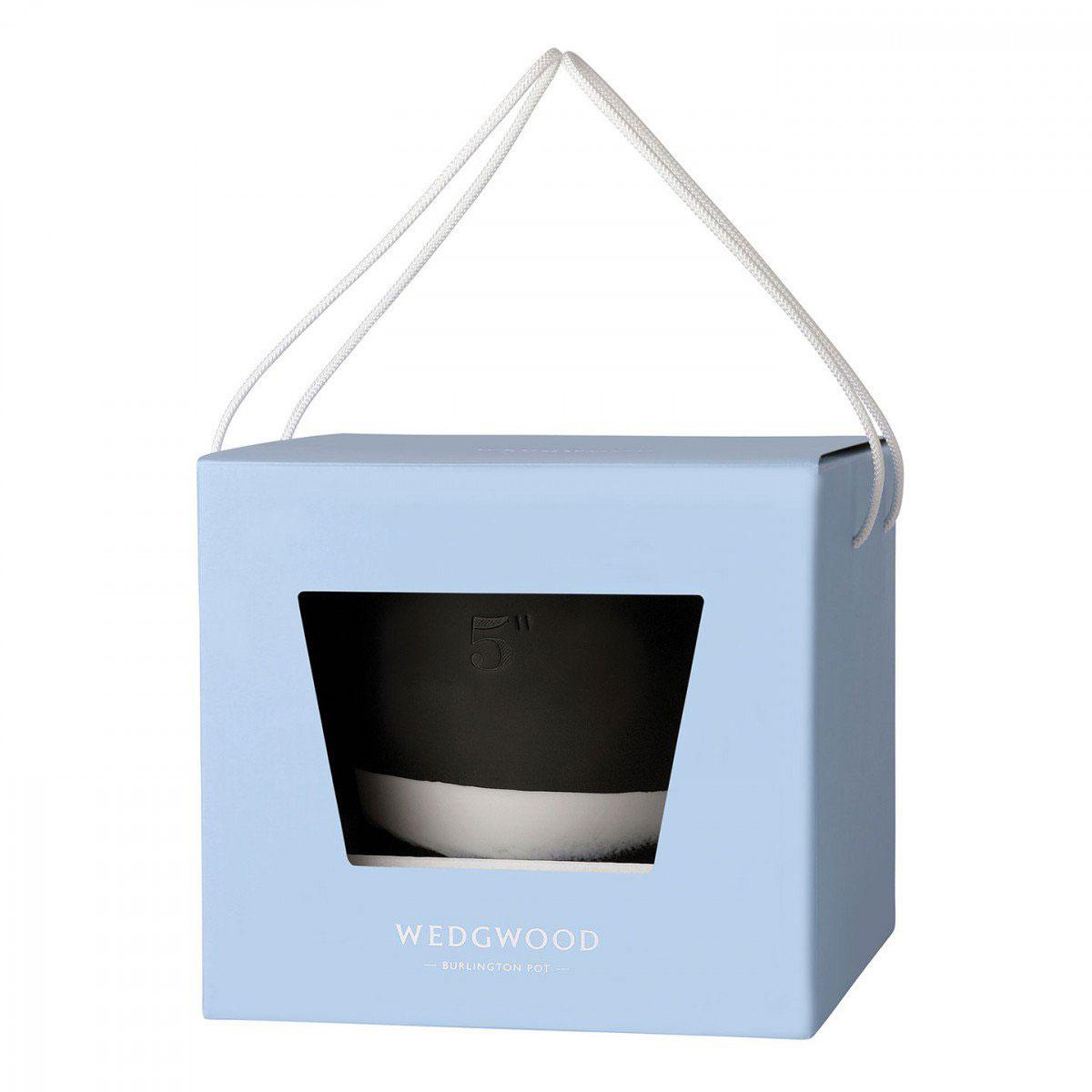 "Wedgwood Jasperware Burlington Pot 5"", Black and White"