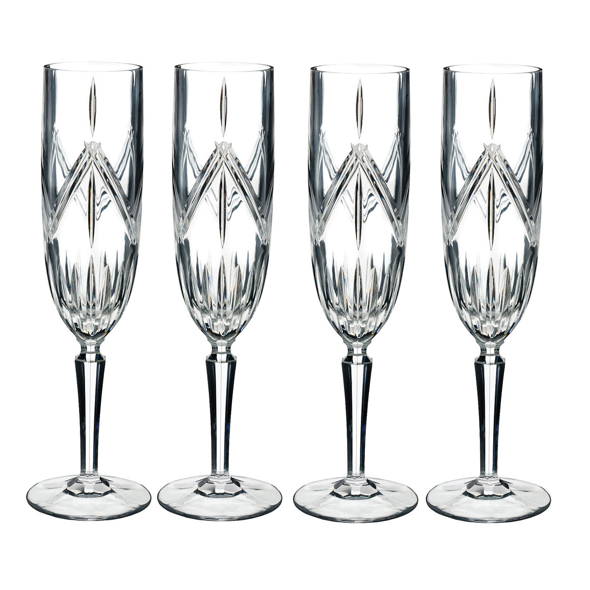 Marquis by Waterford Lacey Flutes, Set of Four