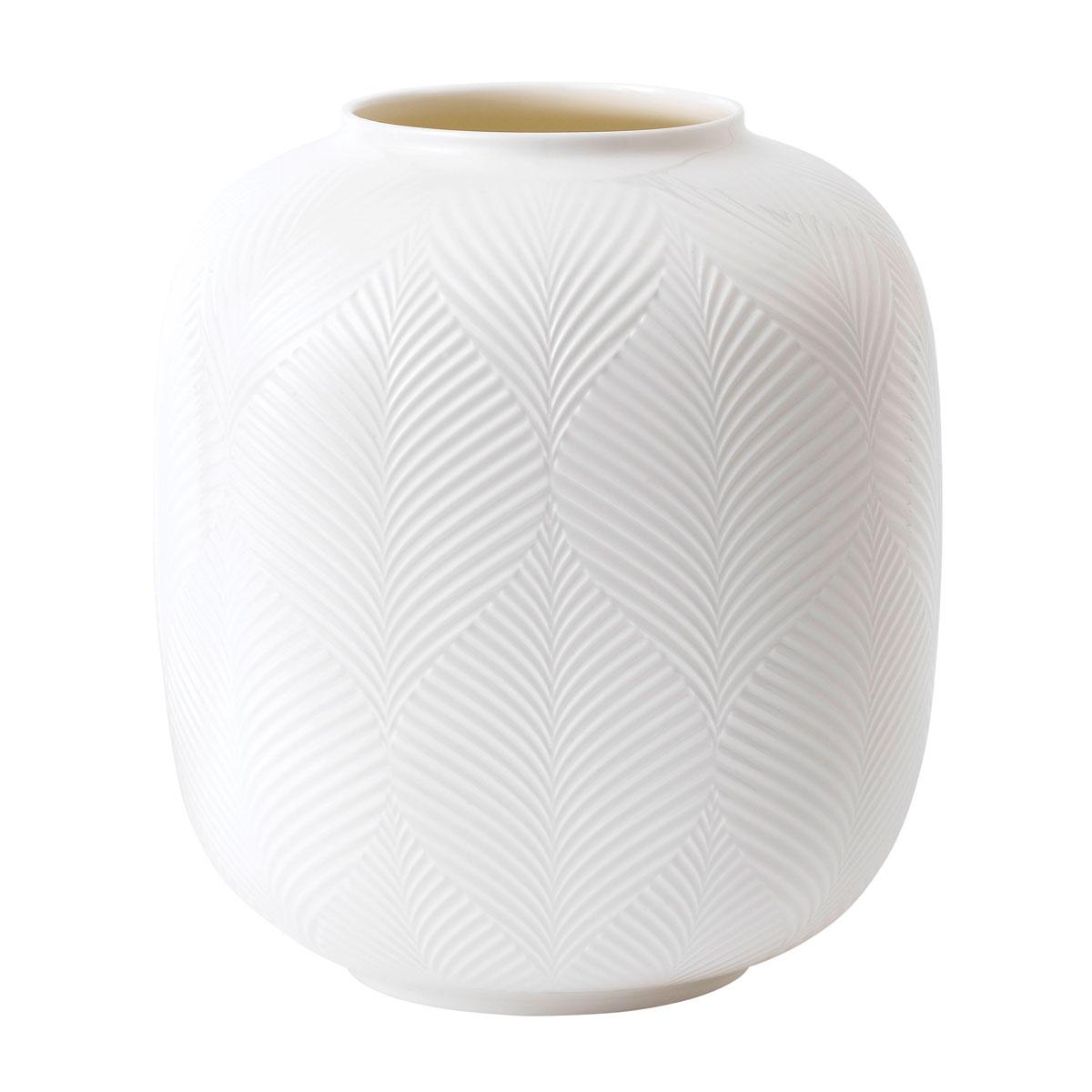Wedgwood China White Folia Rounded Vase