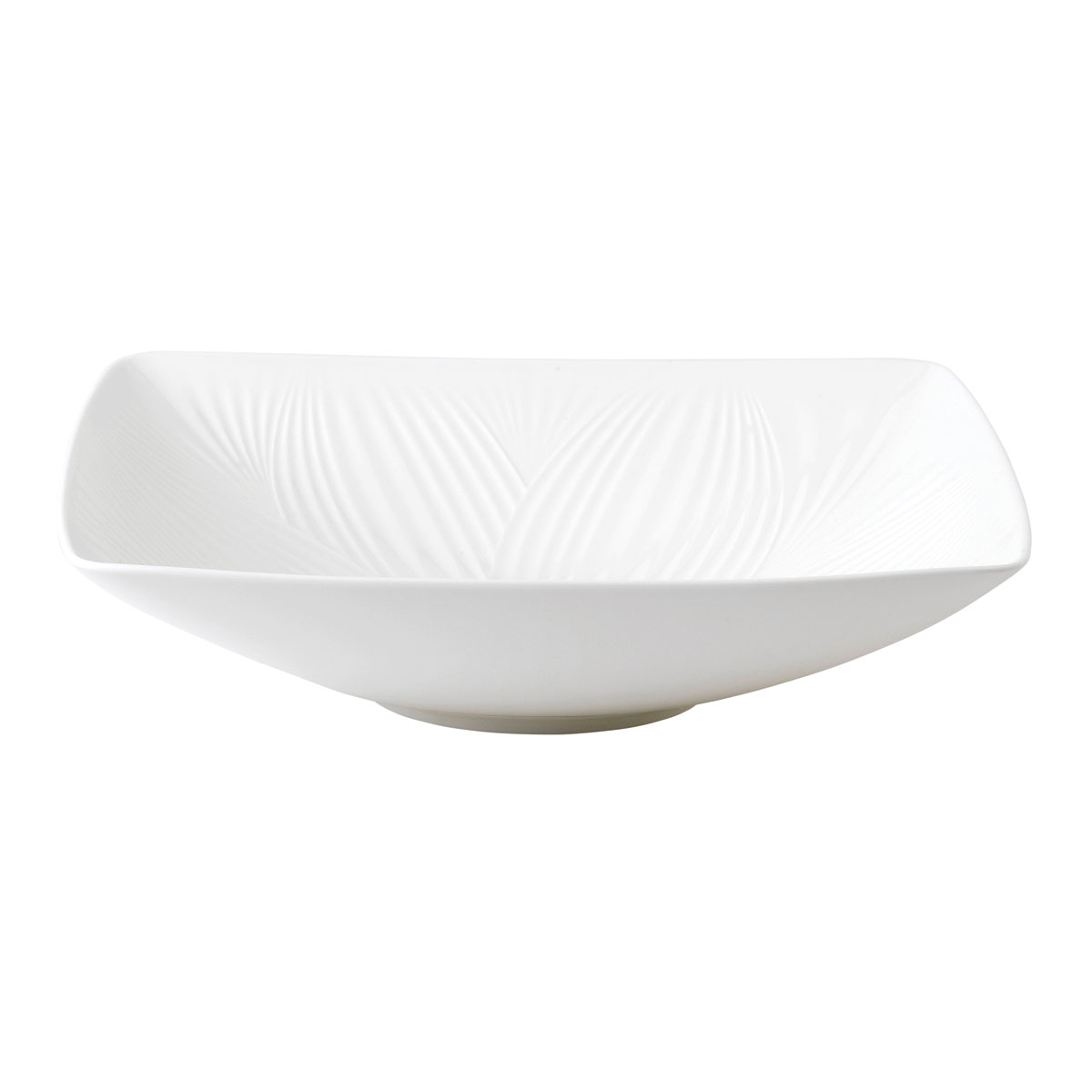 "Wedgwood China White Folia Sculptural Bowl 10.2"""