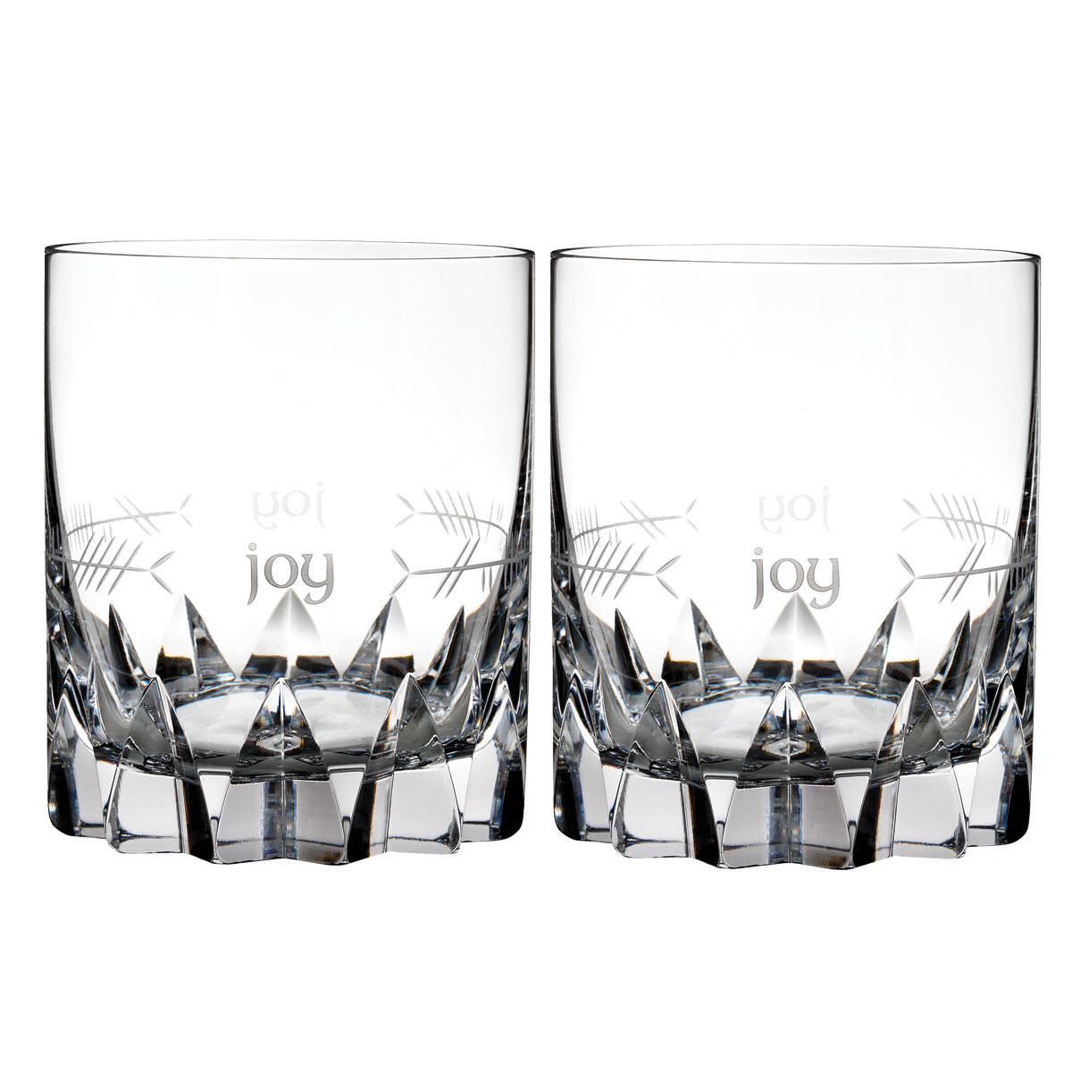 Waterford Crystal, Ogham Joy Crystal DOF Tumblers, Pair