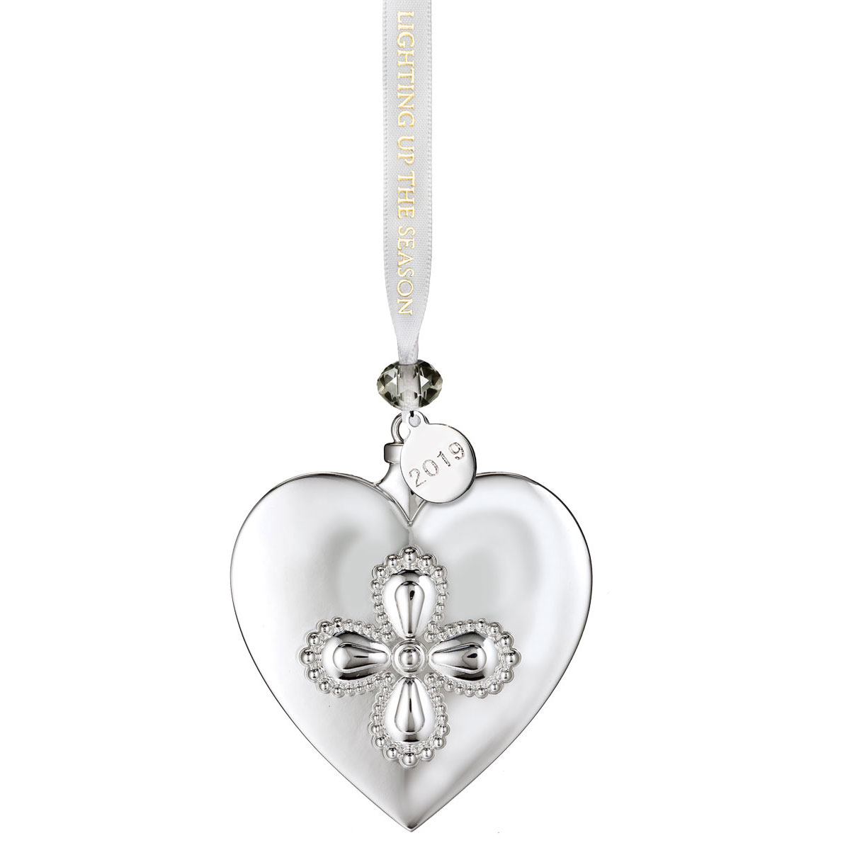 Waterford Silver Heart Ornament