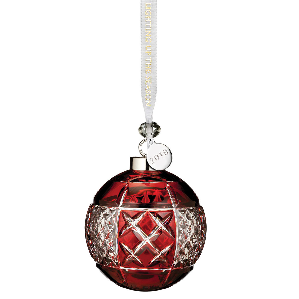 Waterford Crystal Christmas Ornaments.Waterford Crystal 2019 Red Ball Ornament