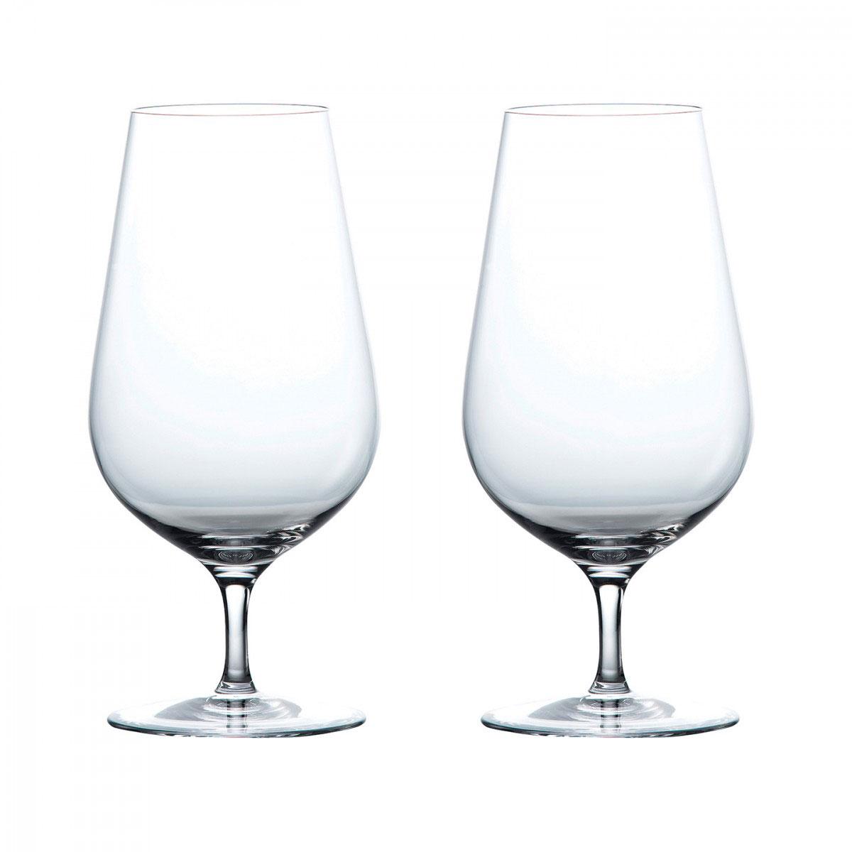 Wedgwood Crystal Globe Crystal Iced Beverage Crystal Glasses, Pair
