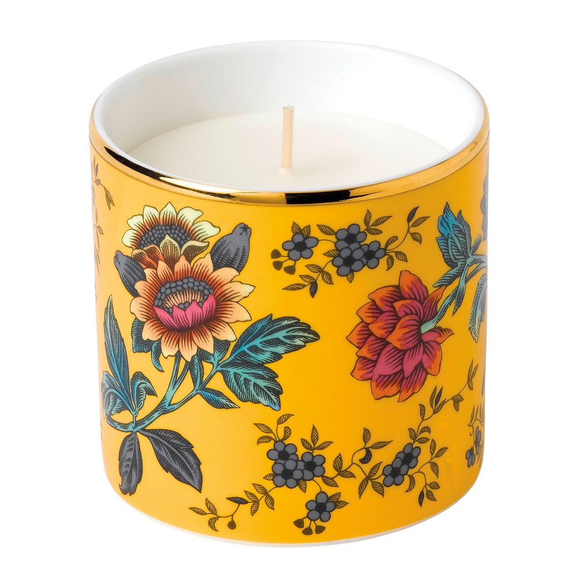 Wedgwood China Wonderlust Yellow Tonquin Candle, Lemongrass and Basil