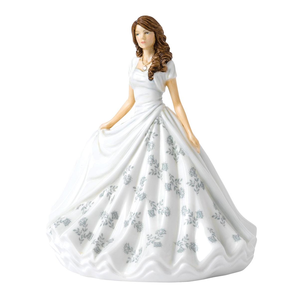 Royal Doulton Pretty Ladies Birthstone Petites April, Diamond