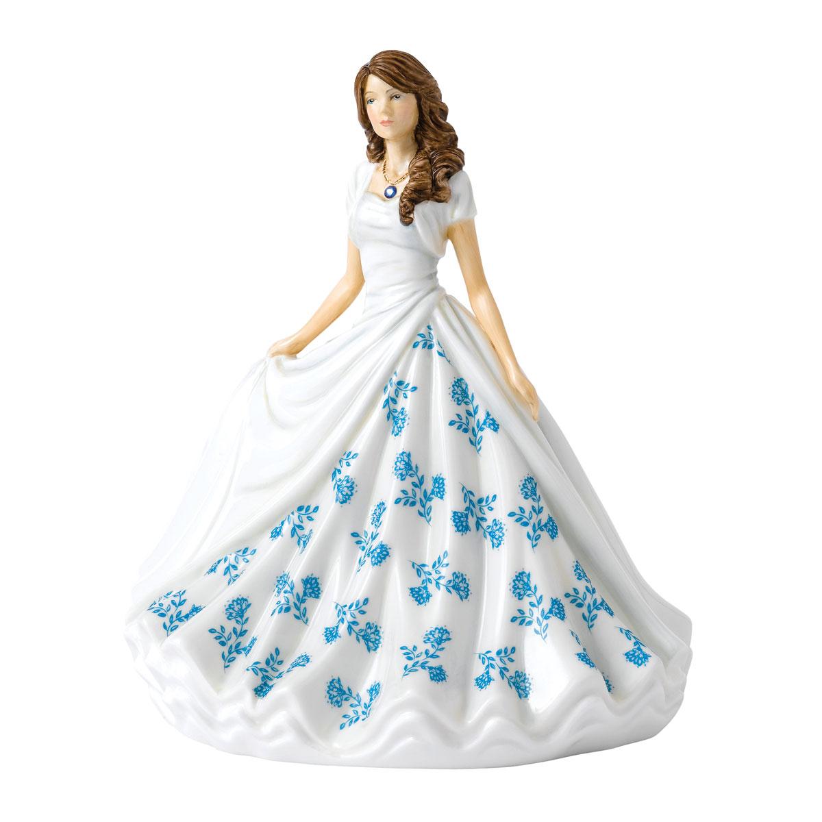 Royal Doulton Pretty Ladies Birthstone Petites September, Sapphire