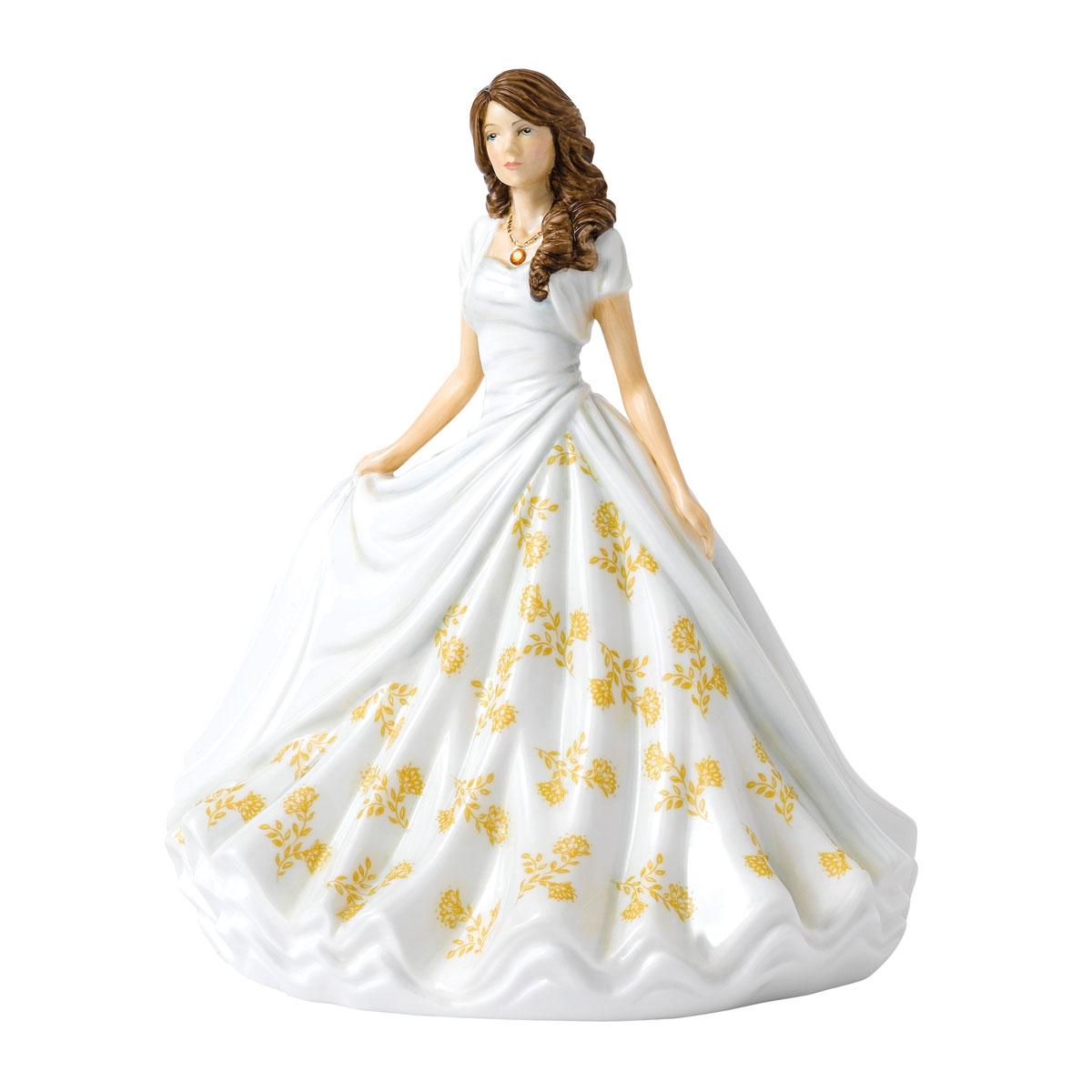 Royal Doulton Pretty Ladies Birthstone Petites November, Topaz