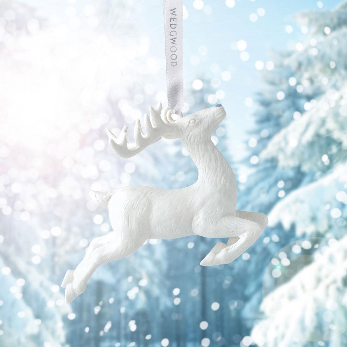 Wedgwood Figural Reindeer Ornament