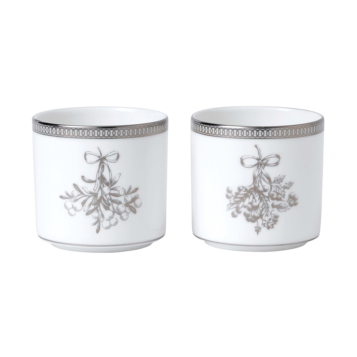 Wedgwood 2021 Winter White Votives, Pair