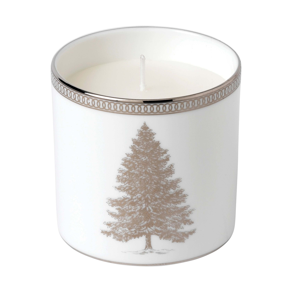 Wedgwood 2020 Winter White Candle, Festive Spice, Juniper and White Heather