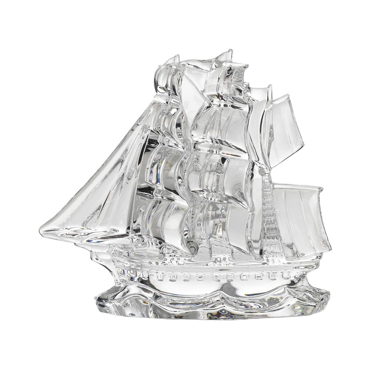 Waterford Crystal Tall Ship Paperweight