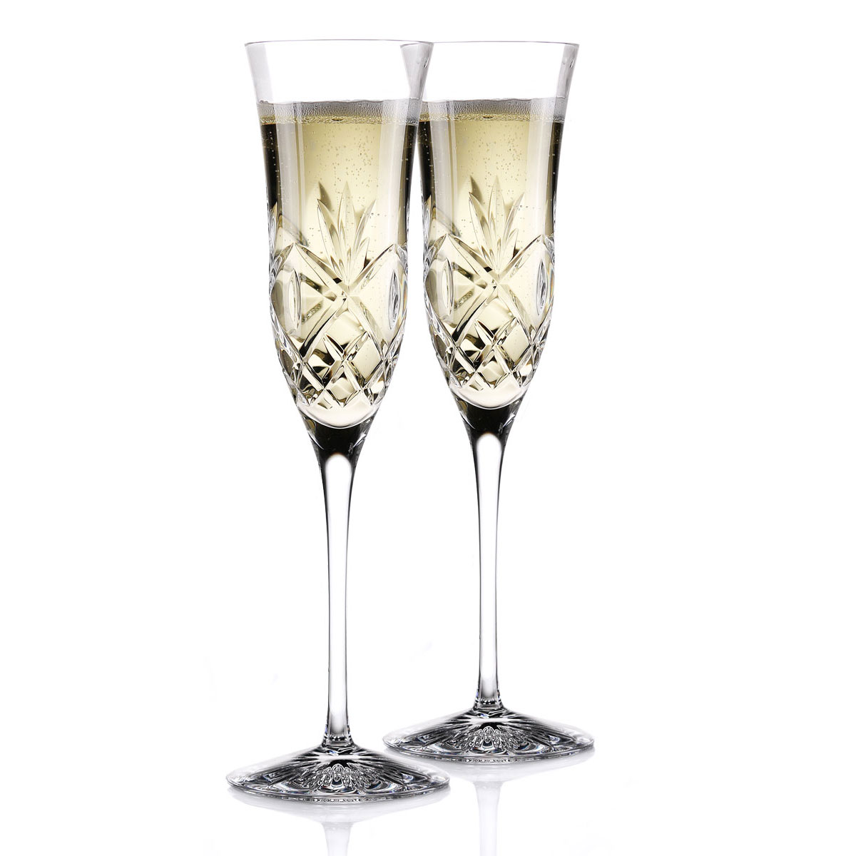 Waterford Crystal Huntley Essence Champagne Toasting Flutes, Pair