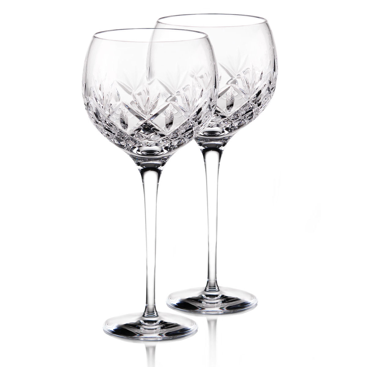 Waterford Crystal Huntley Balloon Wine Glasses, Pair