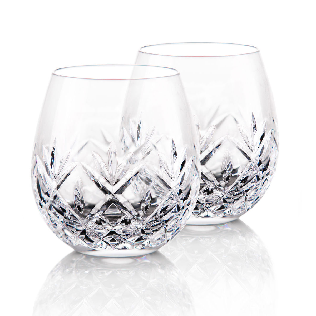 Waterford Huntley Stemless Red Wine Glasses, Pair