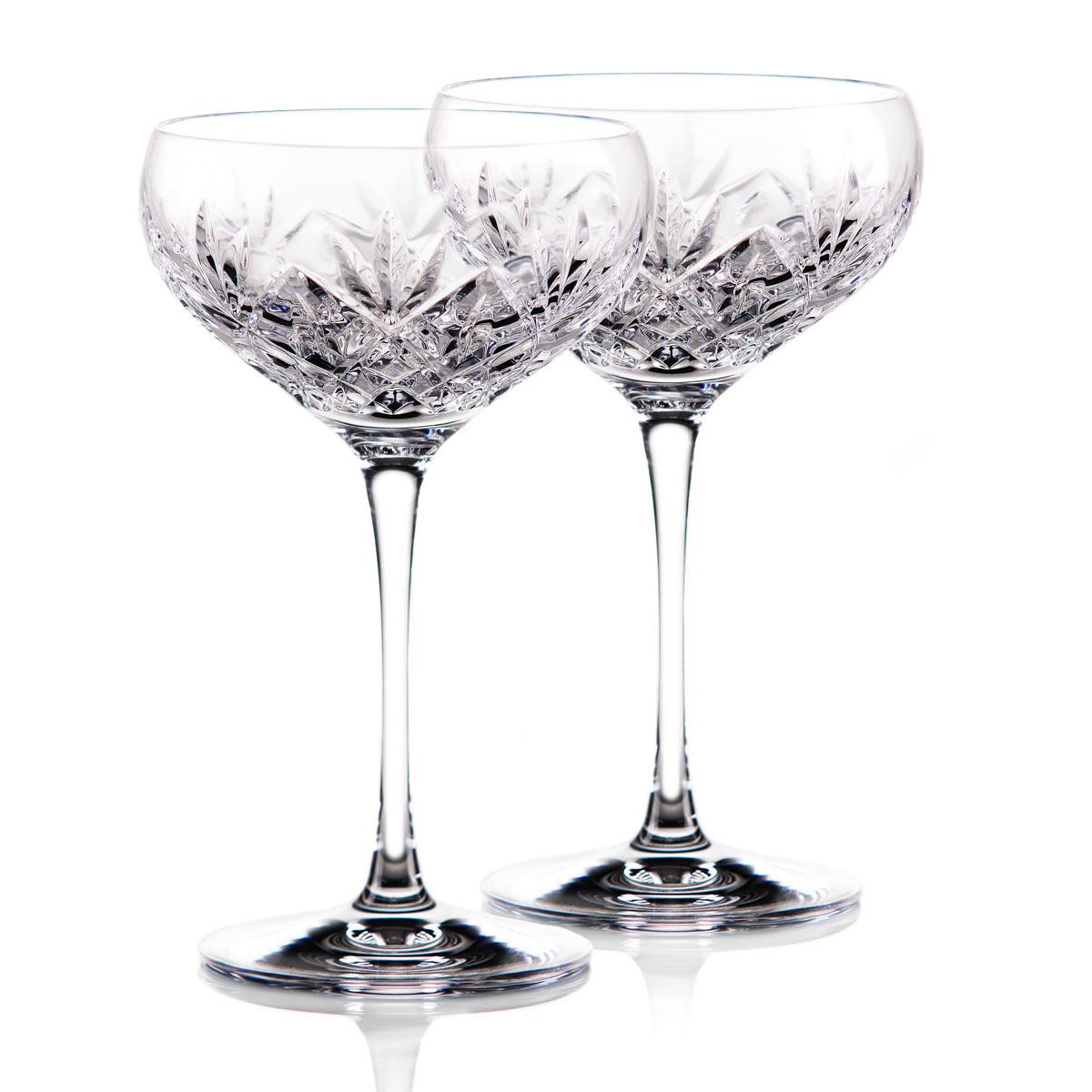 Waterford Crystal Huntley Champagne Cocktail Coupe Glass, Pair