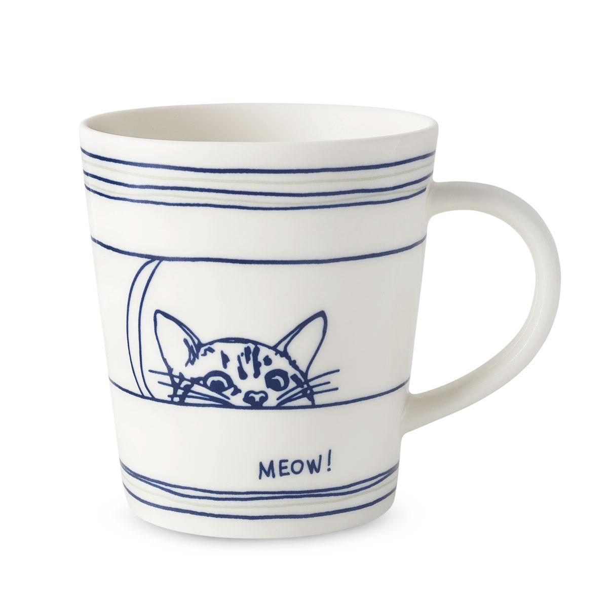 Ed Ellen Degeneres Royal Doulton Cat Mug 16.5 Oz