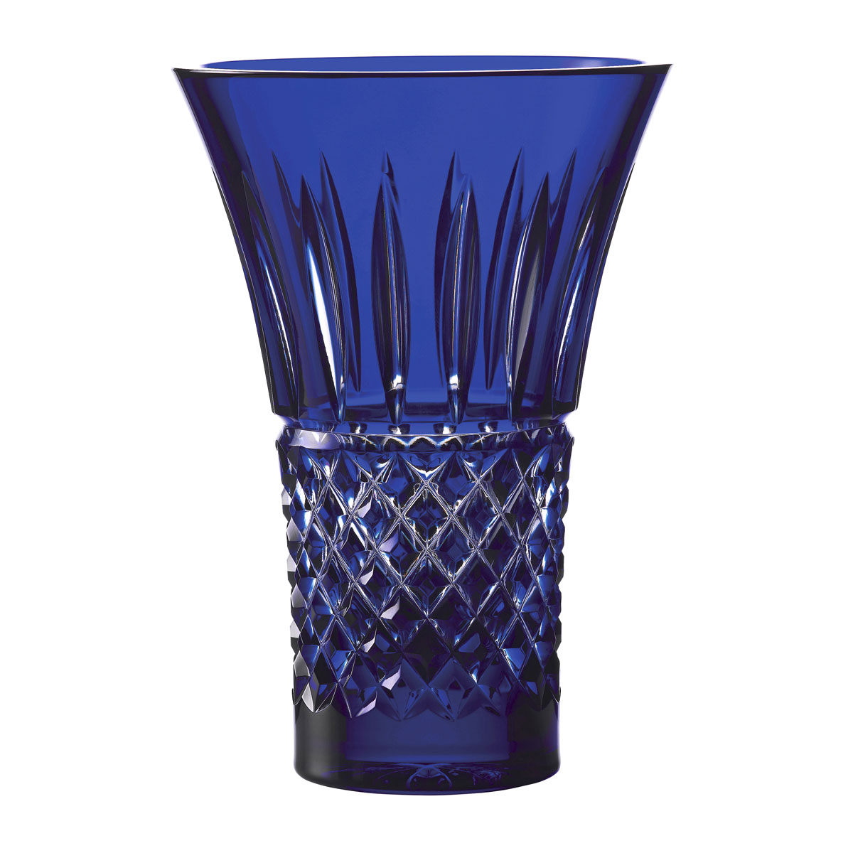 """House of Waterford Treasures of the Sea Tramore 8"""" Blue Flared Vase"""