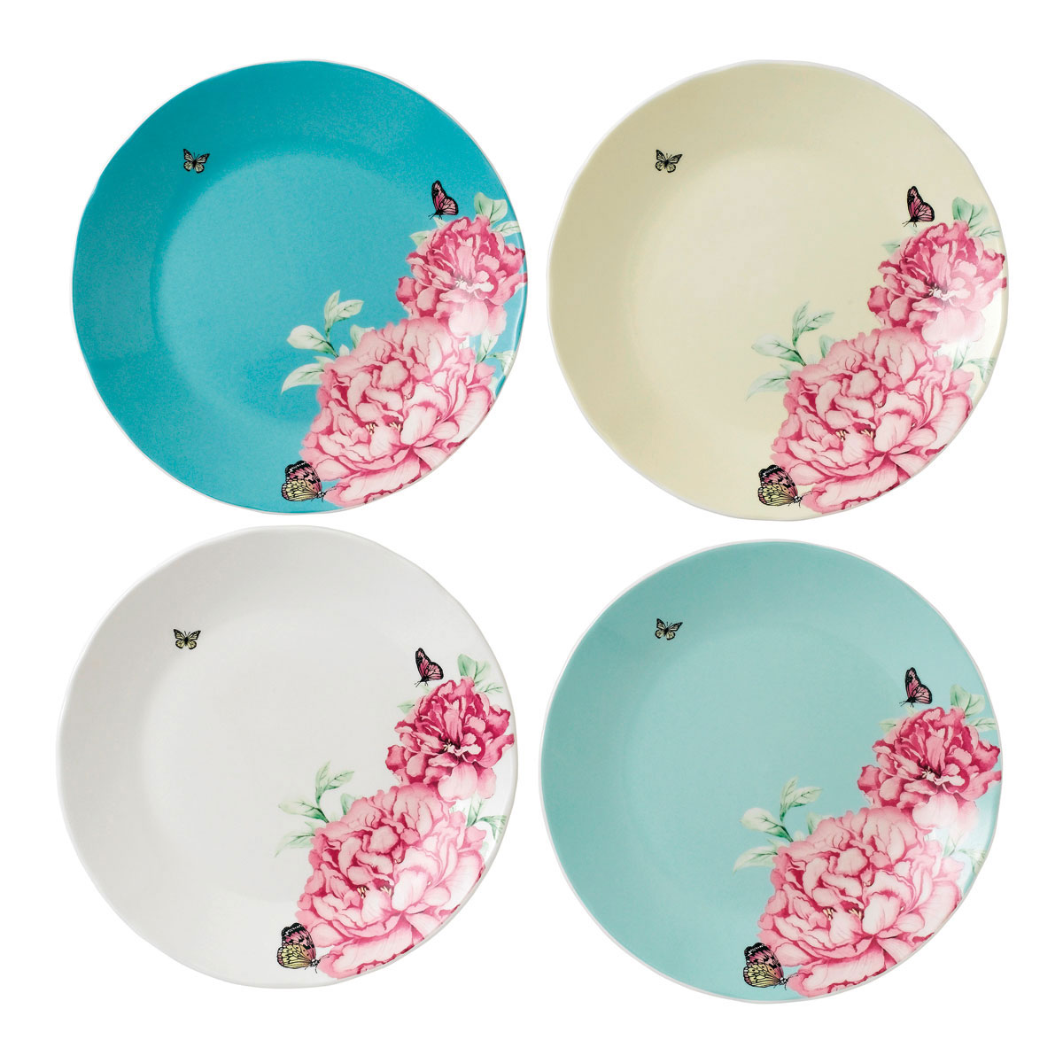 """Royal Albert Everyday Friendship Accent Plate Set Of 4 8"""""""