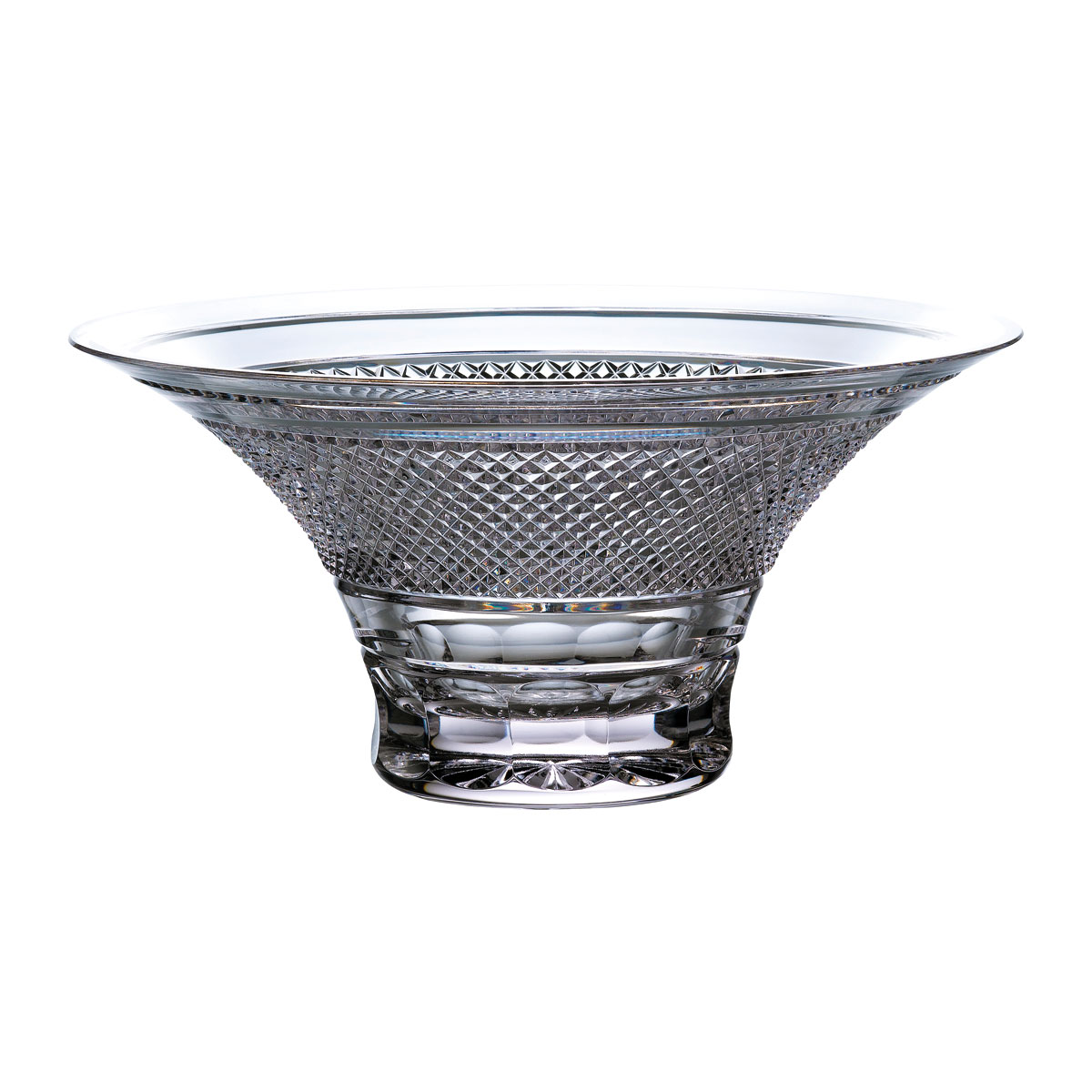 """Waterford Crystal Master Craft Copper Coast Bowl Flared 12"""", Limited Edition"""