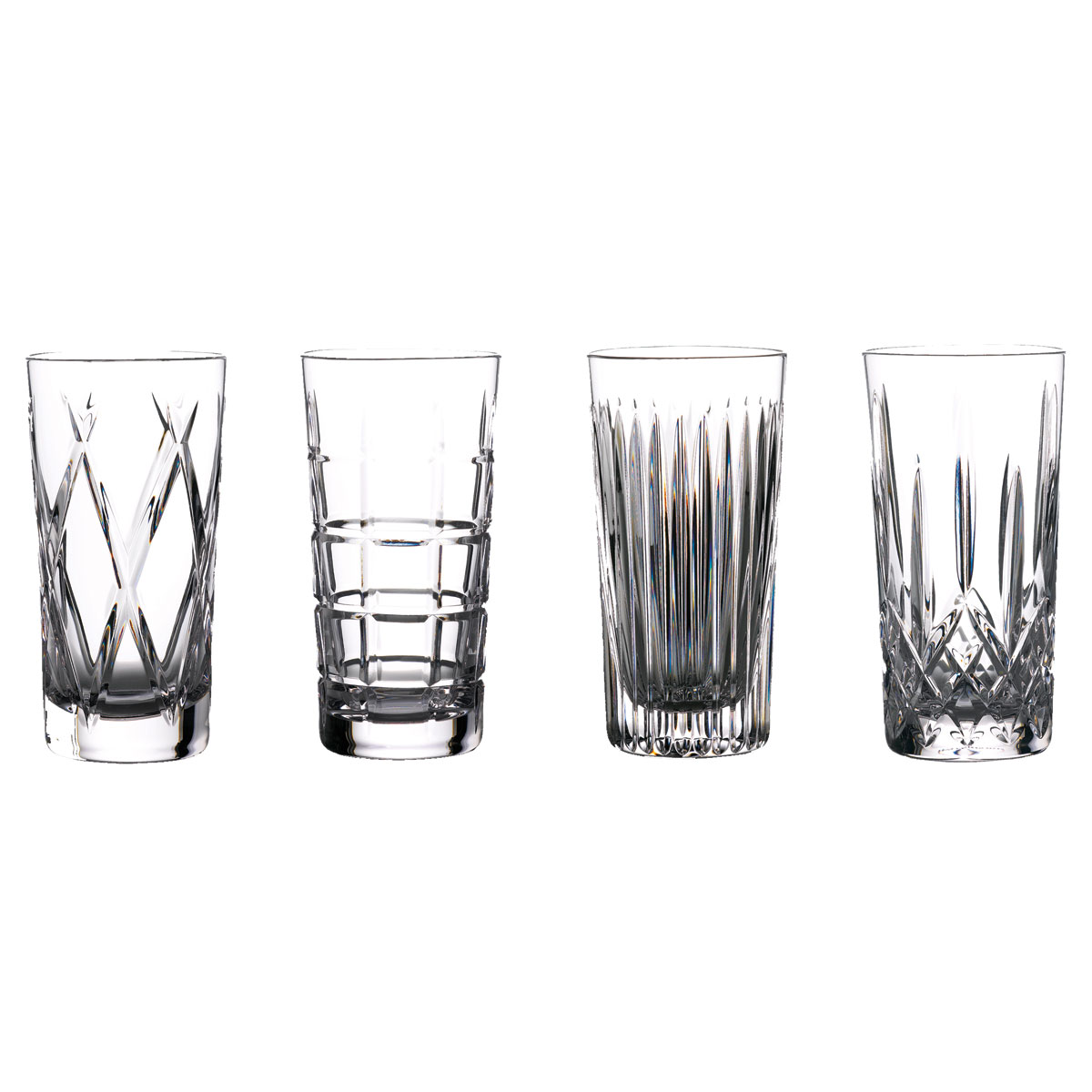 Waterford Gin Journeys Hiball Mixed Set of 4, Aras, Cluin, Lismore and Olann