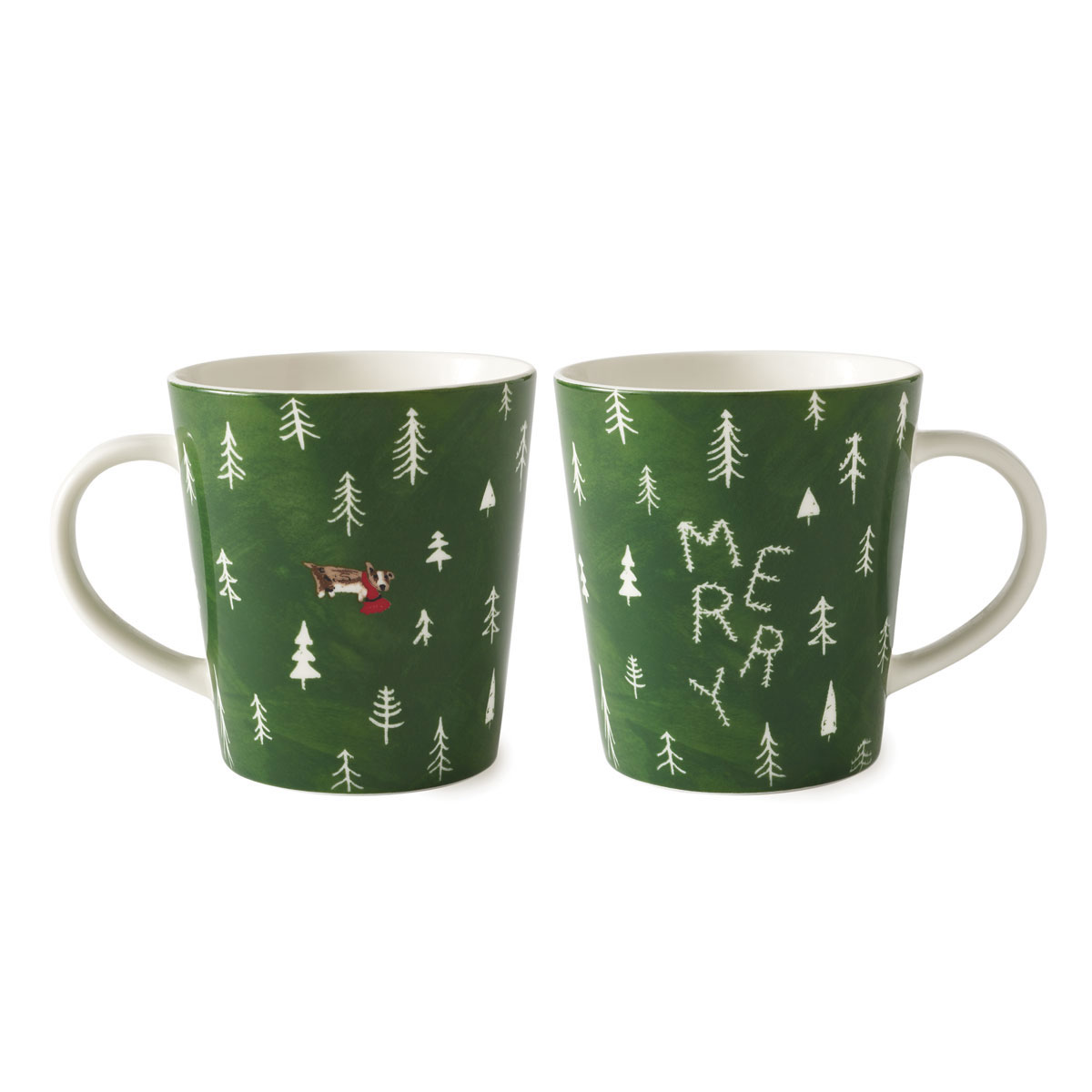 ED Ellen DeGeneres by Royal Doulton Christmas Tree Merry Mug, Single