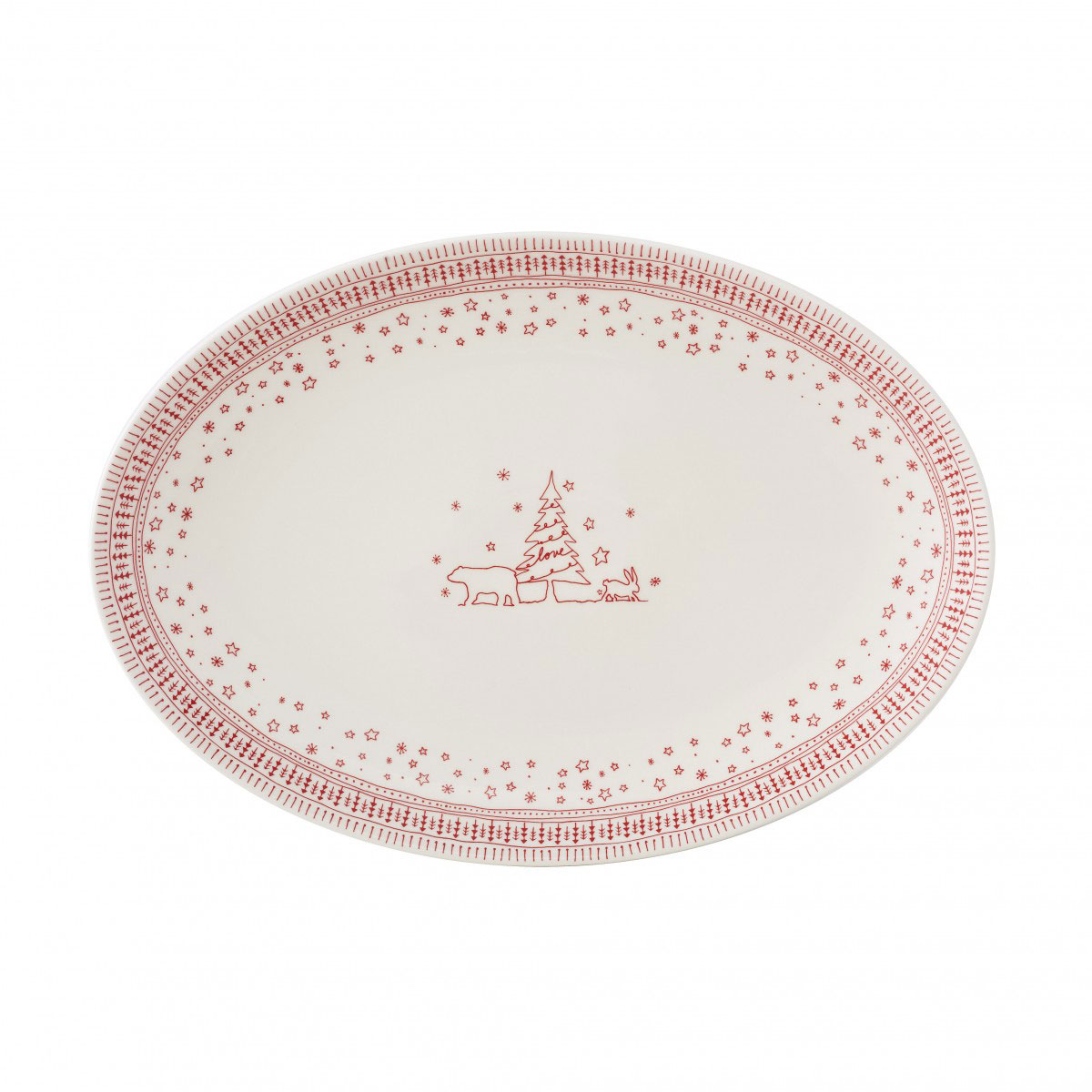 Royal Doulton, ED Ellen Degeneres Holiday China Oval Platter