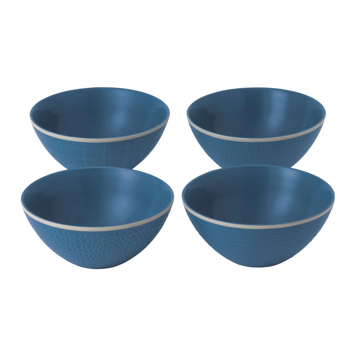 "Royal Doulton Gordon Ramsay Maze Grill Blue Bowl 6"" Set of 4 Mixed"