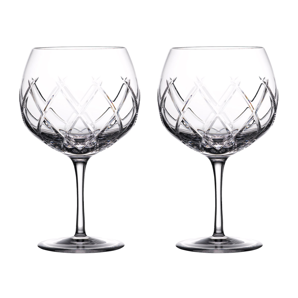Waterford Crystal Gin Journeys Olann Balloon Glasses, Pair