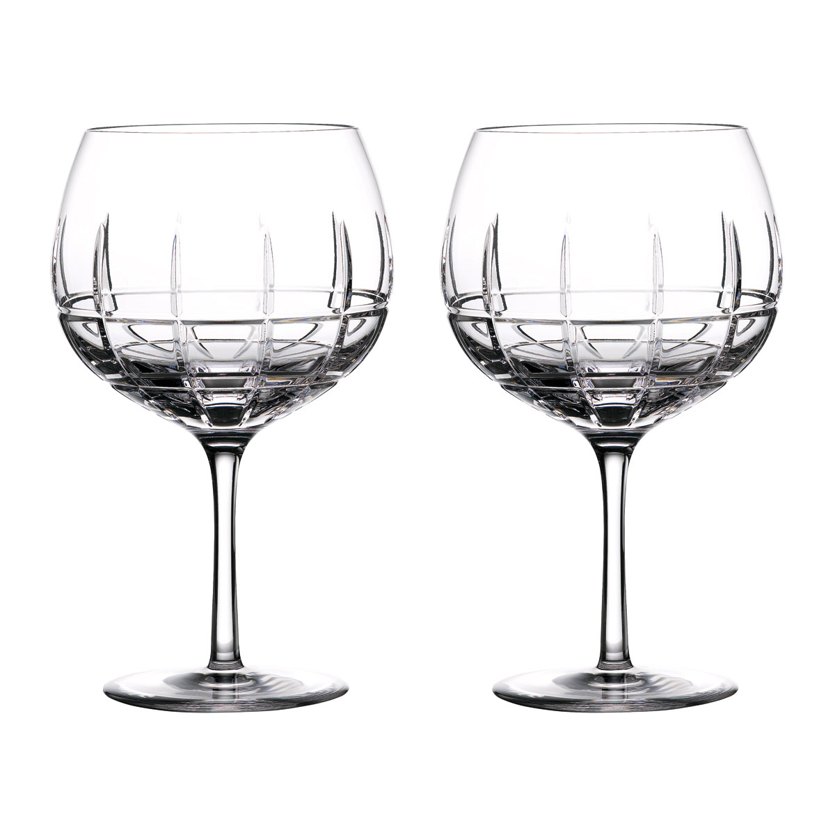 Waterford Crystal Gin Journeys Cluin Balloon Glasses, Pair