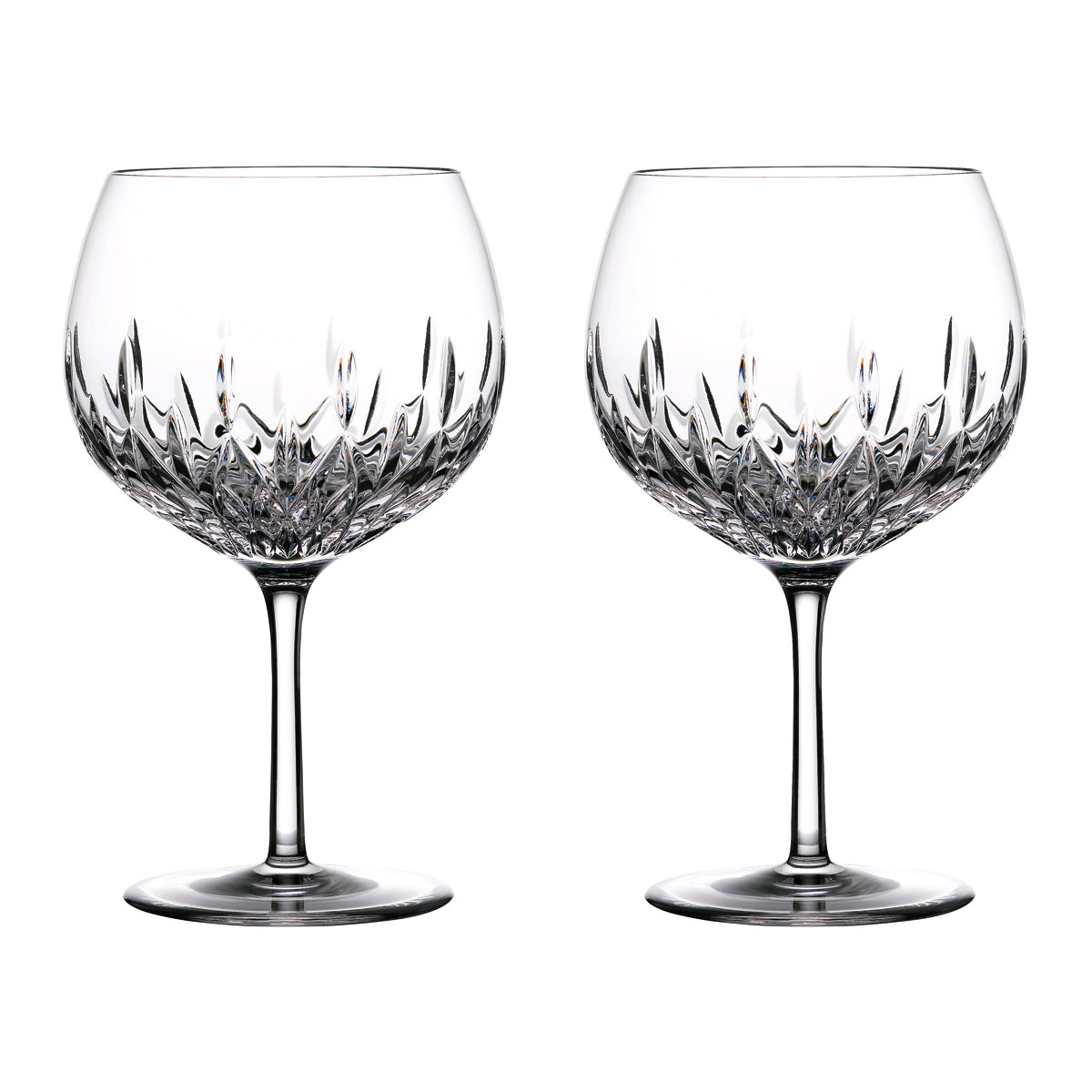Set of 2 Final Touch Crystal Gin Glass