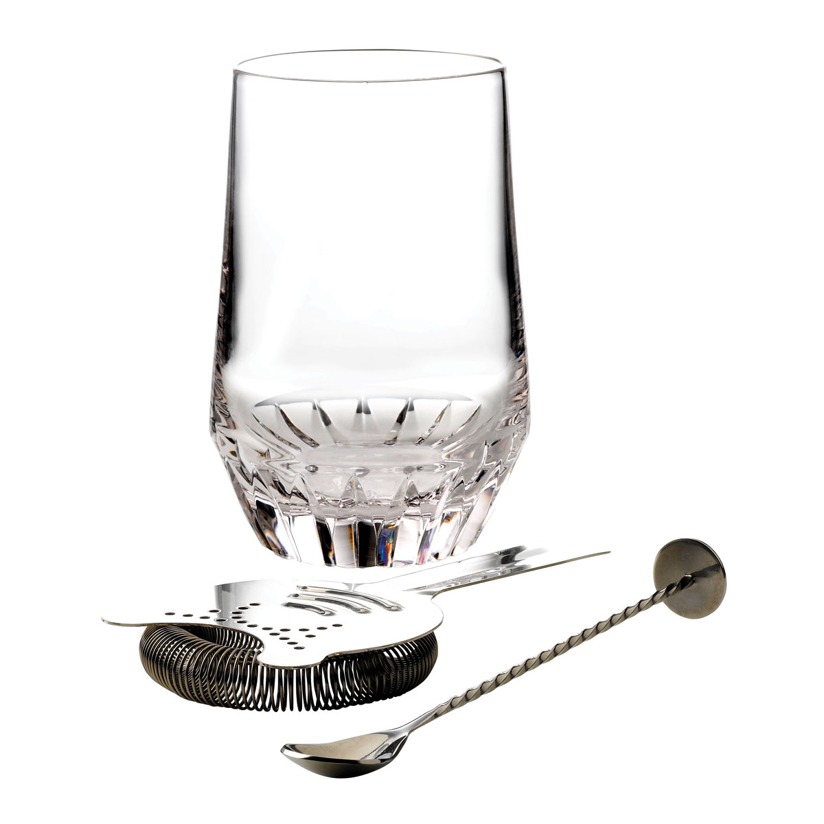 Waterford Crystal Irish Dogs Madra Cocktail Pitcher With Stirrer and Strainer